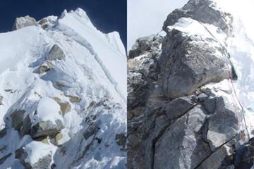 Vách đá Hillary trên đỉnh Everest bị sập