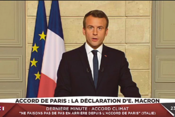 """Tổng thống Pháp gửi """"tâm thư"""" cho Mỹ khi Tổng thống Trump rút khỏi hiệp định Paris"""