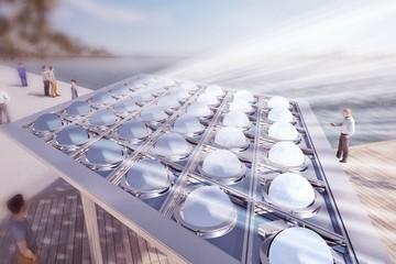 Chiêm ngưỡng Màn che Mặt Trời biến nắng thành điện và nghệ thuật ở Dubai