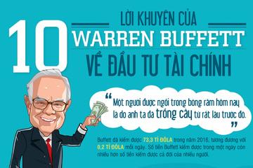 [Infographic] 10 lời khuyên vô giá từ nhà đầu tư Warren Buffett