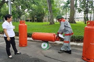 Giá gas giảm 10.000 đồng/bình 12kg