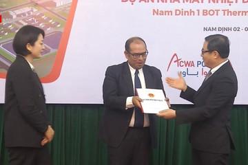 Trao Giấy chứng nhận đầu tư dự án nhà máy Nhiệt điện BOT Nam Định 1