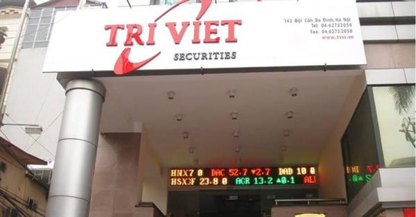 Chứng khoán Trí Việt điều chỉnh giảm một nửa chỉ tiêu lợi nhuận năm 2017
