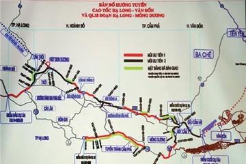 Quảng Ninh kiến nghị đầu tư 15.660 tỷ đồng xây cao tốc Vân Đồn - Móng Cái theo hình thức PPP
