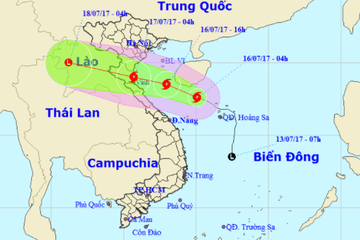 Tin bão khẩn cấp: Bão số 2 giật cấp 10-11 hướng vào Thanh Hóa, Nghệ An, Hà Tĩnh
