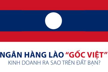 """[Infographic] Ngân hàng Lào """"gốc Việt"""" kinh doanh ra sao trên đất bạn?"""