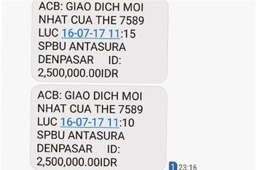 Khánh hàng ở Đà Nẵng bị rút hơn 38 triệu đồng từ Indonesia