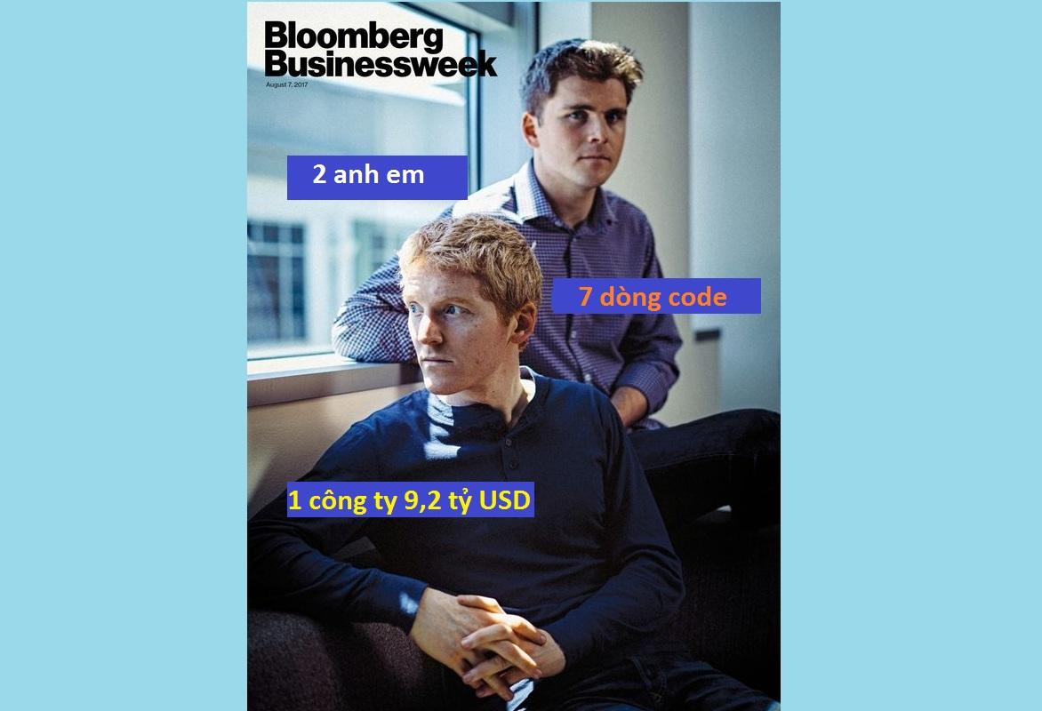 2 anh em biến 7 dòng code thành công ty 9,2 tỷ USD