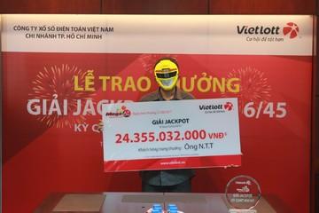 Khách hàng lĩnh thưởng Jackpot 24 tỷ đồng không tiết lộ cho gia đình