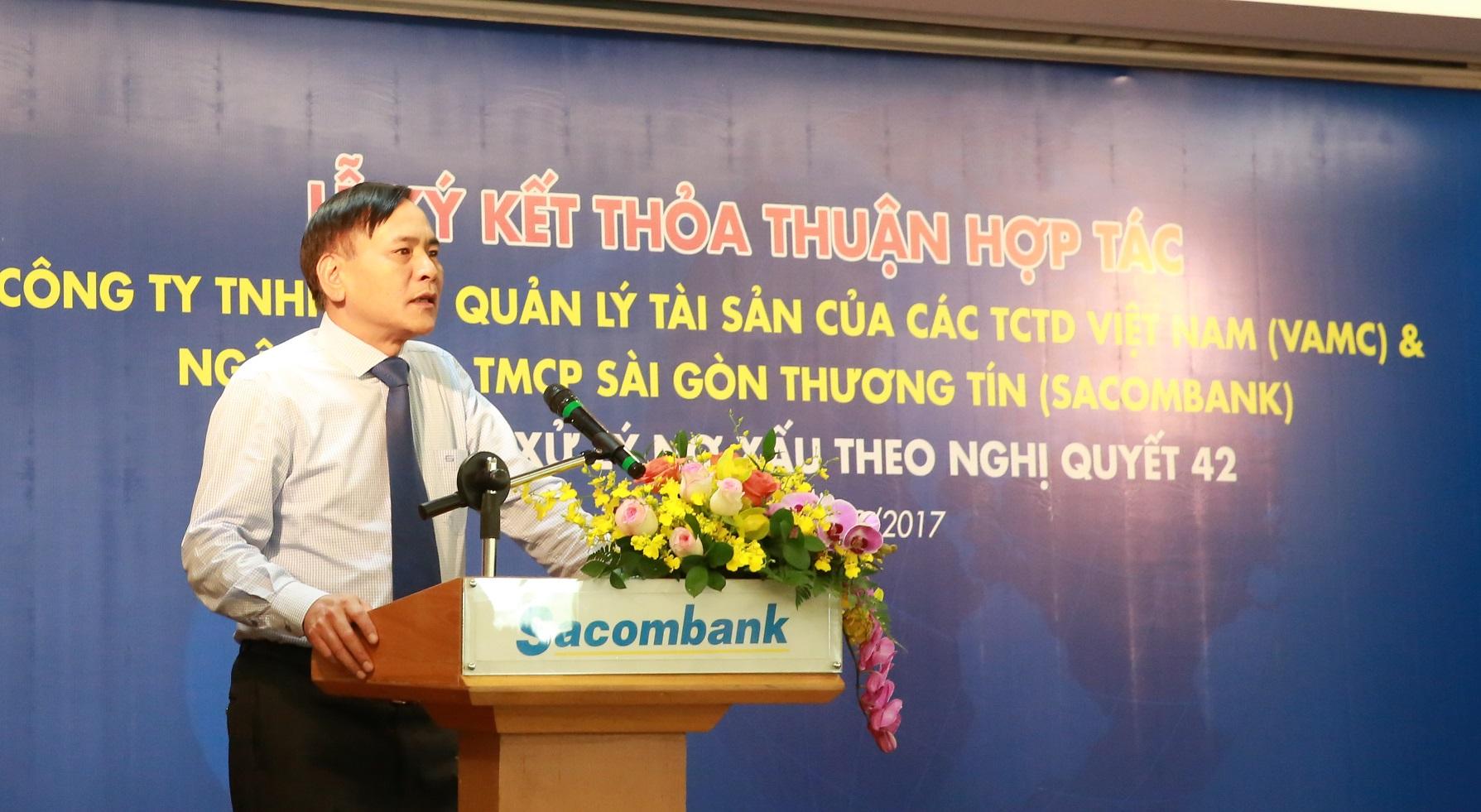 VAMC mua hơn 2.580 tỷ đồng nợ xấu của Sacombank bằng tiền