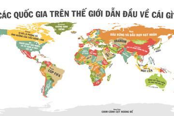 [Infographic] Các quốc gia trên thế giới dẫn đầu về cái gì?