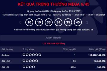 Khách hàng mua vé số tại Đồng Nai trúng Jackpot hơn 112 tỷ đồng
