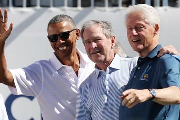 Lần đầu tiên 3 cựu tổng thống Mỹ hội ngộ trên sân golf