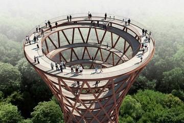 Tháp quan sát xoắn ốc ấn tượng ở Đan Mạch