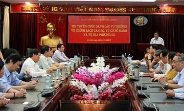 Ban Tổ chức Trung ương công bố 3 vụ trưởng trúng tuyển