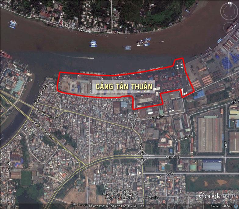 Lý do nào phải dời cảng Tân Thuận để xây cầu Thủ Thiêm 4?