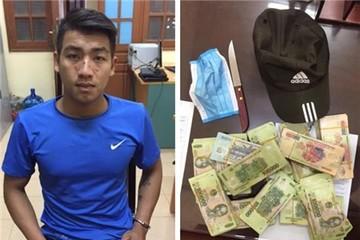 Bắt nóng thanh niên dùng dao cướp 200 triệu trong ngân hàng