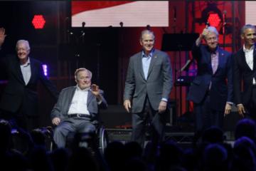 5 cựu tổng thống Mỹ hội ngộ để kêu gọi cứu trợ thiên tai