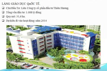 Nhà đầu tư làng giáo dục quốc tế phải bàn giao đủ quỹ đất 25% cho Hà Nội
