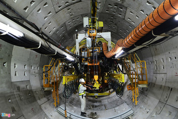 Sắp hoàn thành đoạn khoan ngầm metro số 1 từ ga Ba Son về Nhà hát