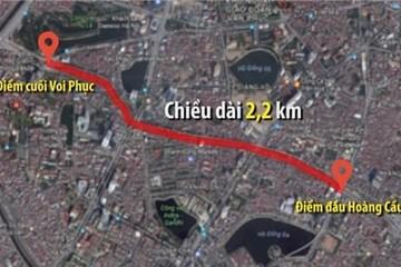 Hà Nội xin Thủ tướng xây 2,3 km đường vành đai 1 trị giá gần 7.800 tỷ đồng