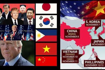 Chùm ảnh: Tổng thống Trump công du châu Á