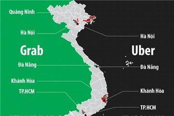 Cuộc chiến online: Uber, Grab tràn về tỉnh lẻ