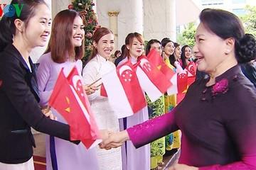 Chủ tịch Quốc hội bắt đầu thăm chính thức Singapore