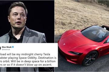 Elon Musk dự định đưa xe Tesla lên sao Hỏa