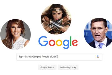 10 người được tìm kiếm nhiều nhất trên Google năm 2017