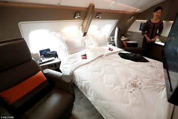 Máy bay Singapore: ' Khách sạn trên không'