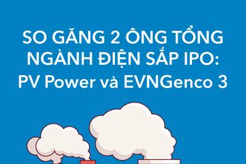 [Infographic] So găng 2 ông Tổng ngành điện sắp IPO: EVNGenco 3 và PV Power