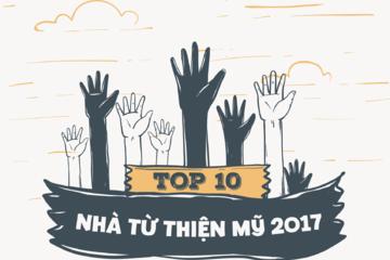 [Infographic] Top 10 nhà từ thiện Mỹ 2017