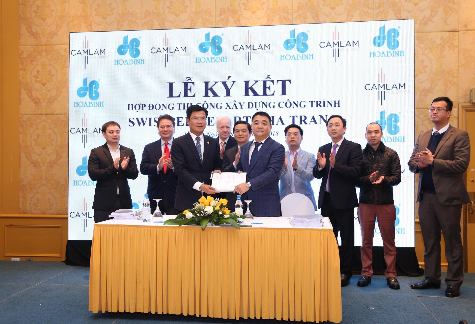 Hòa Bình ký hợp đồng thi công Dự án Swiss Belresort Nha Trang giá trị 470 tỷ đồng