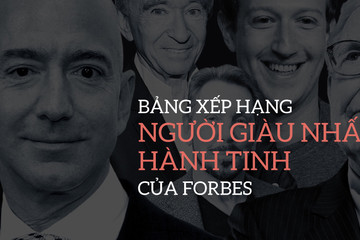 [Infographic] Bảng xếp hạng người giàu nhất hành tinh của Forbes