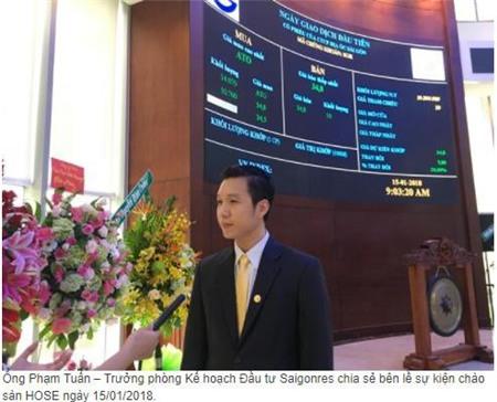 Saigonres (SGR): Năm 2018 đặt kế hoạch 270 tỷ đồng LNTT, dự kiến đầu tư 2.390 tỷ đồng cho các dự án