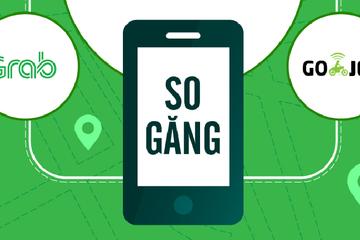 [Infographic] So găng Grab và Go-Jek: 'Kẻ tám lạng, người nửa cân'