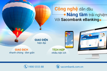 Sacombank ra mắt eBanking mới, bổ sung bảo mật bằng Face iD