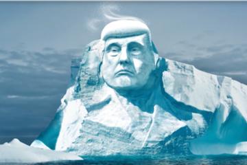 Phần Lan muốn khắc hình Trump lên băng