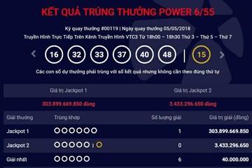 Khách hàng mua vé Vietlott tại Thanh Xuân, Hà Nội trúng Jackpot hơn 300 tỷ đồng