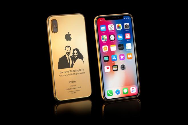 iPhone X phiên bản đám cưới Hoàng gia Anh mạ vàng 24K, giá 90 triệu đồng