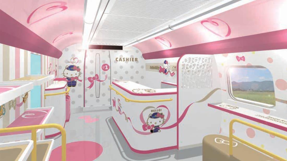 Nhật Bản ra mắt đoàn tàu Hello Kitty