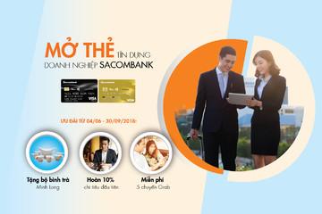 Sacombank ưu đãi toàn diện khi mở thẻ tín dụng quốc tế doanh nghiệp