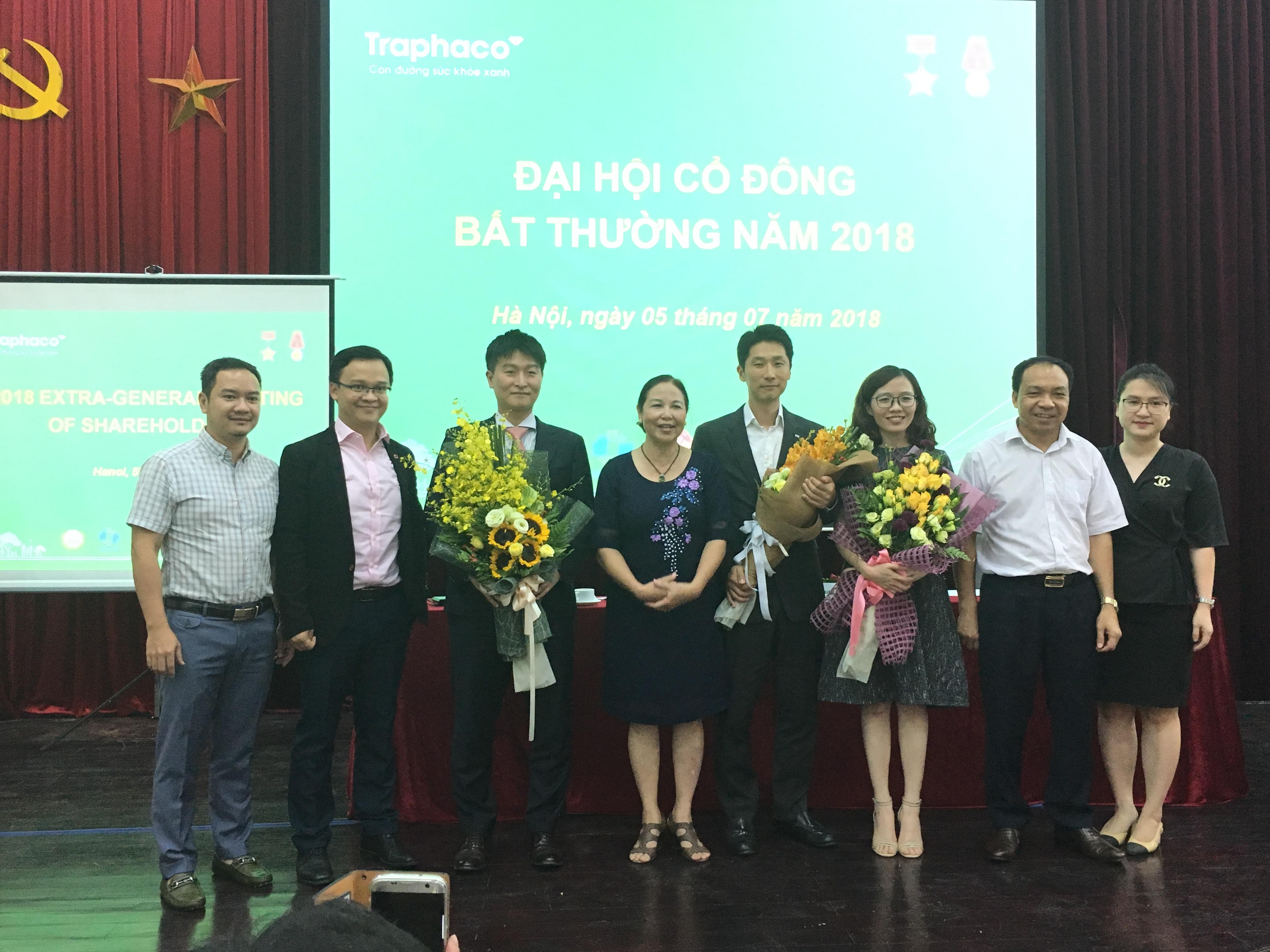 ĐHĐCĐ Traphaco: Bầu 2 thành viên HĐQT từ Daewoong và Mirae Asset