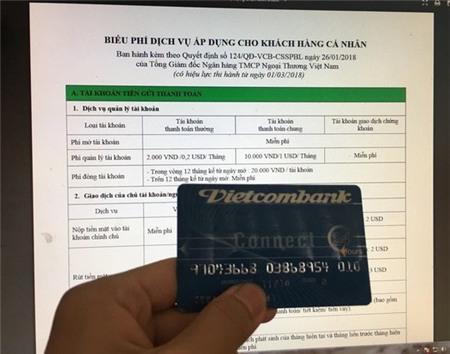 Vietcombank lại tăng phí rút tiền ATM từ 15-7
