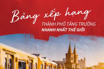 [Infographic] Hà Nội, TP HCM vào nhóm 10 thành phố tăng trưởng nhanh nhất thế giới