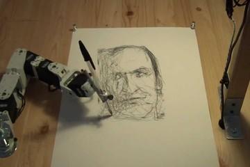 Robot ký họa chân dung chỉ trong 2 phút