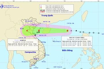 Chiều tối mai, bão số 3 đổ bộ trực tiếp các tỉnh từ Hải Phòng đến Hà Tĩnh