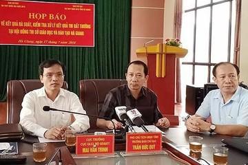 Phát hiện loạt bài thi bị nâng điểm ở Hà Giang: Điểm 1 nâng lên 9