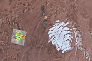 Phát hiện hồ nước rộng 20 km dưới bề mặt sao Hỏa